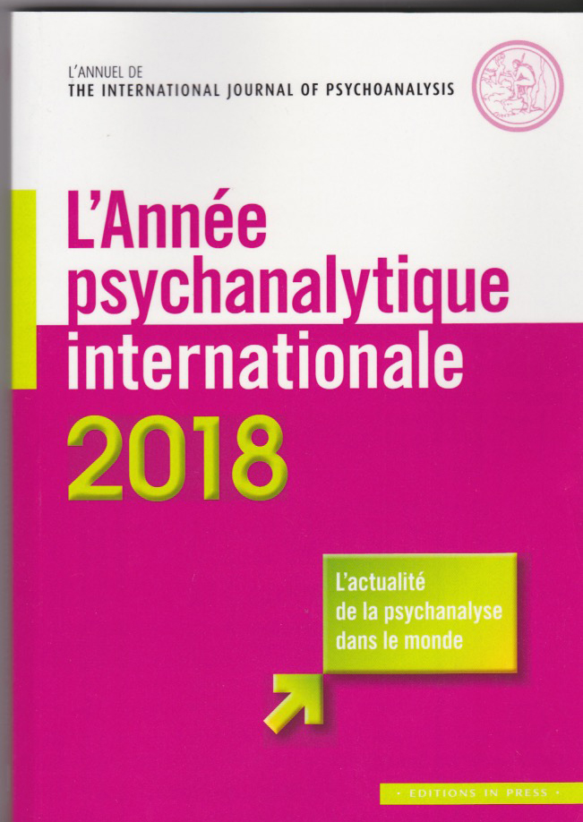 l'annuel de The international Joournal of Psychoanalysis 2018
