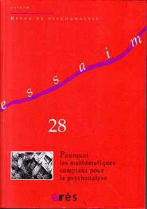 Essaim (3/2012 : Pourquoi les mathématiques comptent pour la psychanalyse)