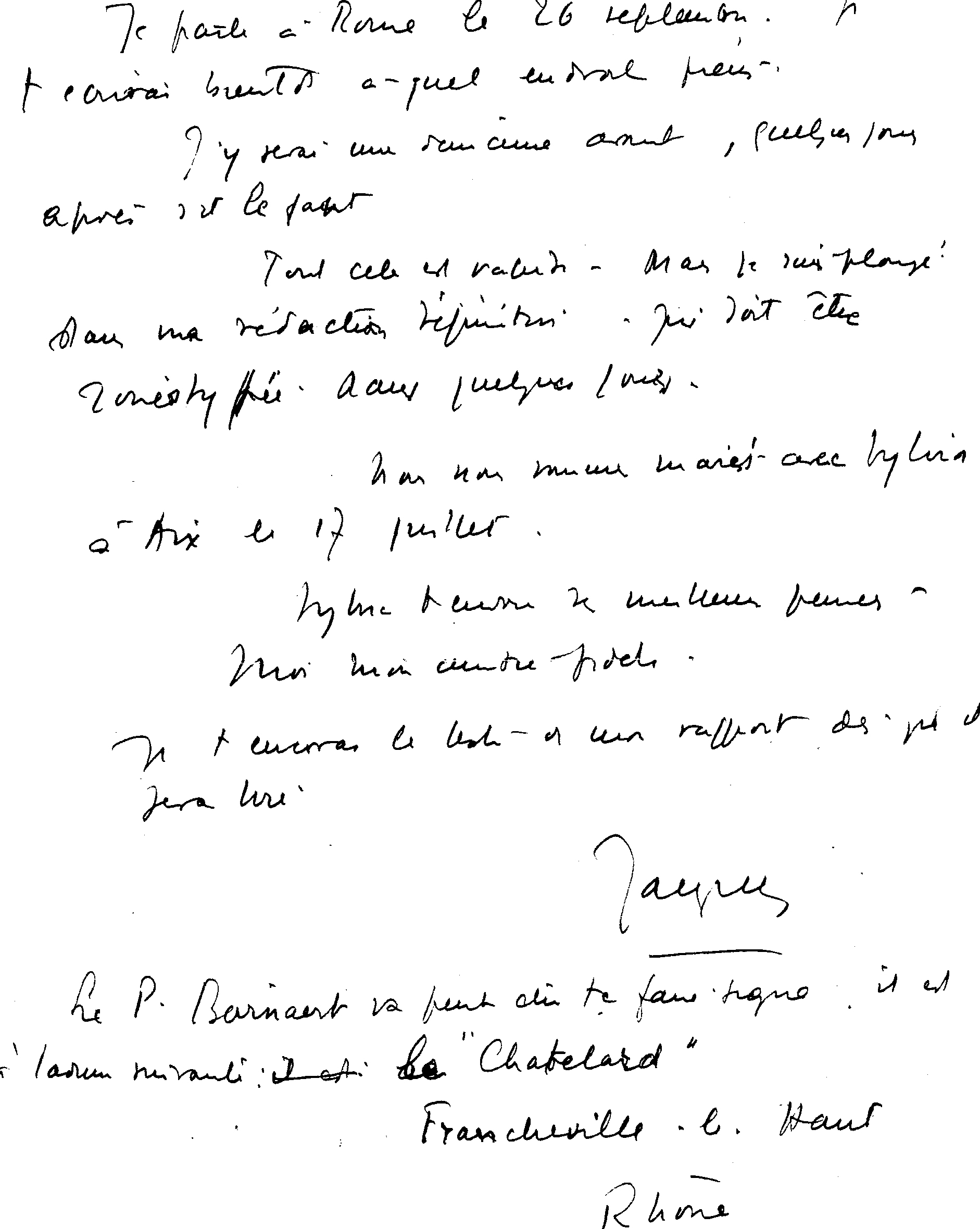 Lettres de Jacques à Marc Lacan