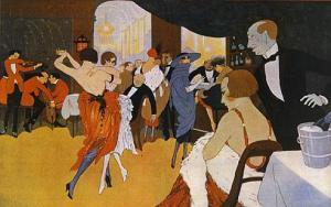 En el cabaret, por Lorenzi (1920)